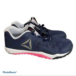 Reebok ros workout 2.0 size 9.5 blue pink lace up